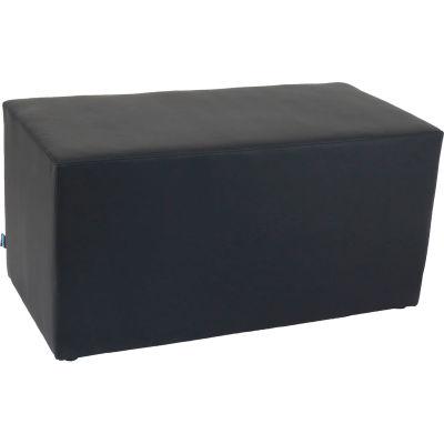 Interion® Rectangle Reception Bench - Black