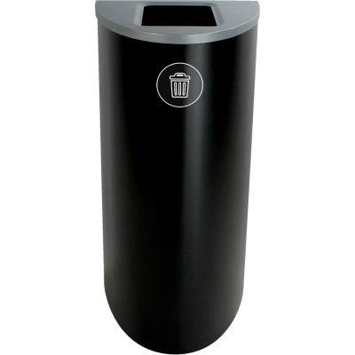 Busch Systems Spectrum Ellipse - Waste, 22 Gallon - Black - 101104