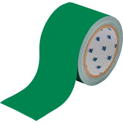 """Brady® 104315 ToughStripe Floor Marking Tape, Polyester, 2""""W X 100'L, Green"""