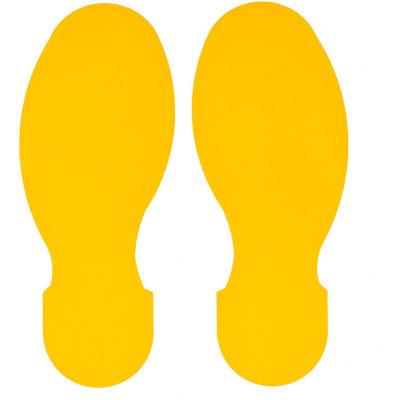 "Brady® 104409 ToughStripe Floor Footprints, 3-1/2"" W, 10/Pack, Yellow"