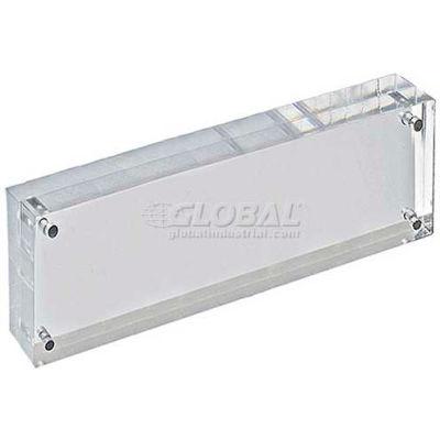 "Azar Displays 104430 Acrylic Vertical/Horizontal Block Frame, 3"" x 11"" ,1 Piece"