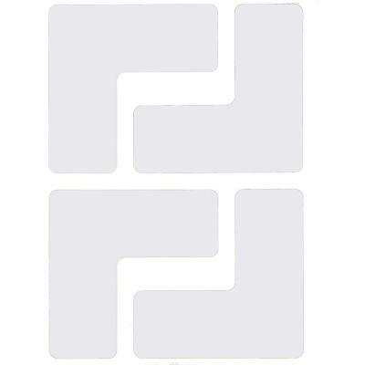 """Brady® 104335 ToughStripe Floor Corner Marks, Polyester, 2""""W, 20/Pack, White"""