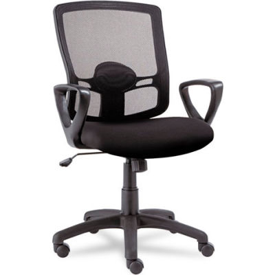 Alera® Mesh Office Chair with Swivel/Tilt - Fabric - Mid Back - Black - Etros Series