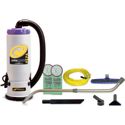 "ProTeam® Super QuarterVac HEPA Backpack Vacuum w/14"" Floor Tool, Telescoping Wand"