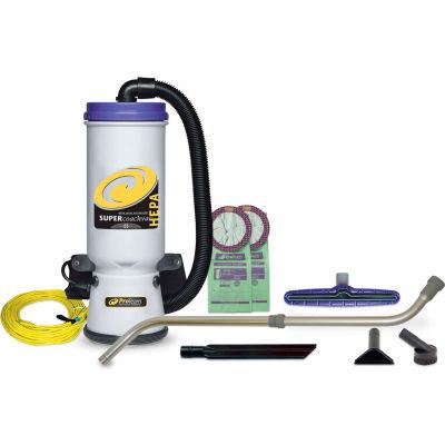 "ProTeam® Super CoachVac HEPA Vac Backpack w/14"" Floor Tool, Telescoping Wand"