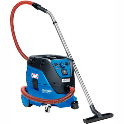 Nilfisk Attix 33-21 IC Wet/Dry Vacuum w/Auto Filter Cleaning & Electric Tool Start, 8 Gallon Cap.