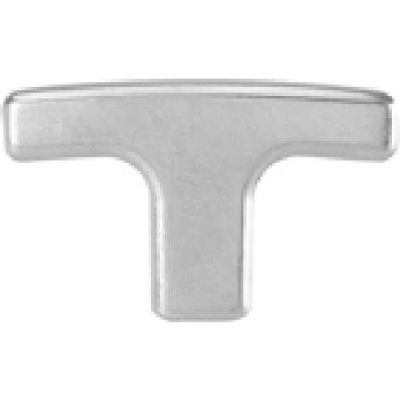 J.W. Winco GN563.2 Aluminum T-Handle W/Threaded Stud mm Diameter 80mm Length M10x1.5