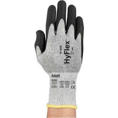 HyFlex® Polyurethane Coated Cut Resistant Gloves, Ansell 11-435, Size 10, 1 Pair