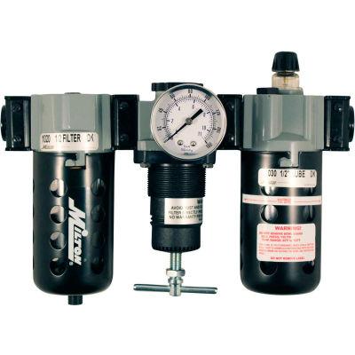 "Milton 1106-1 Filter/Regulator/Lubricator Poly. Bowl w/Metal Guard 1/2"" NPT 150 PSI40 Micron"