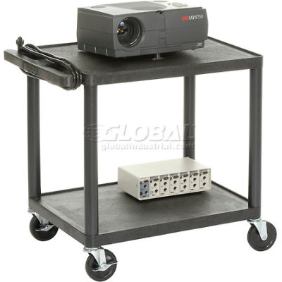 Plastic Audio Visual & Instrument Cart 24 X 18 X 26 Two Shelves