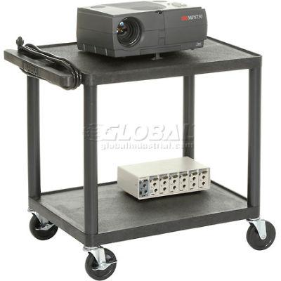 Plastic Audio Visual & Instrument Cart 32 X 24 X 27 Two Shelves
