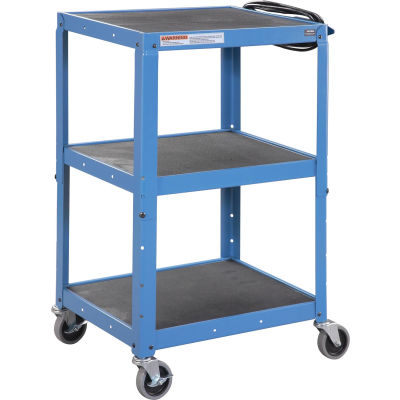 Global Industrial® Steel Audio Visual & Instrument Cart - Blue