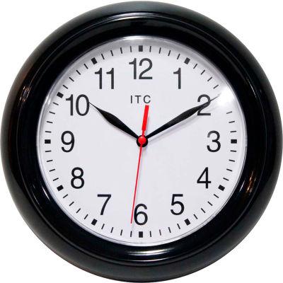 "Infinity Instruments 8.75"" Round Focus Wall Clock - Black"