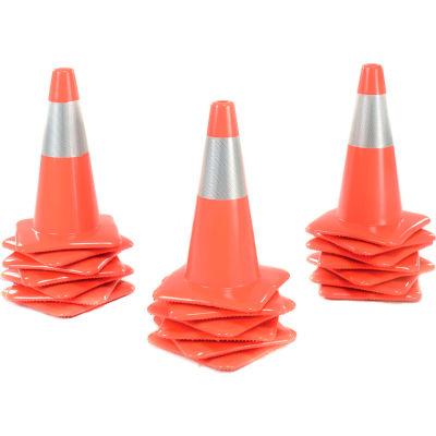 "18"" Traffic Cone W/ Custom Imprinting, Reflective, Orange, 3 lbs, 1850-00-M-L - Pkg Qty 50"