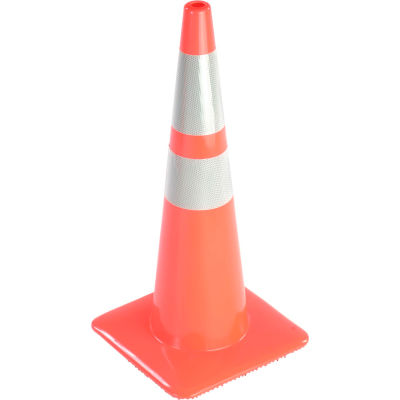 "28"" Traffic Cone, Reflective, Orange, 7 lbs, 2850-7-MM"