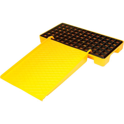 Eagle 1689 Spill Containment Poly Pallet Ramp - Yellow