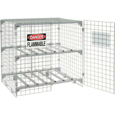 Global Industrial™ Horizontal 6 Cylinder Storage Cabinet, Manual Close