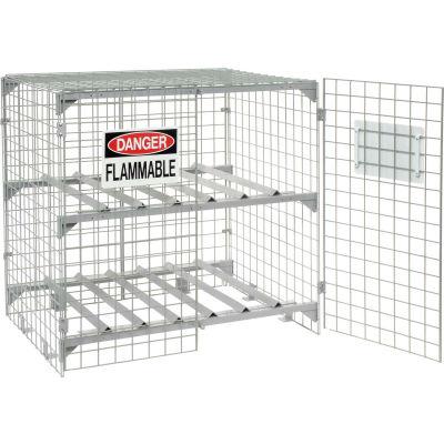 Global Industrial™ Horizontal 6 Cylinder Storage Cabinet, Manual Close