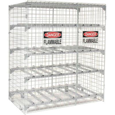 Global Industrial™ Horizontal 12 Cylinder Storage Cabinet, Manual Close