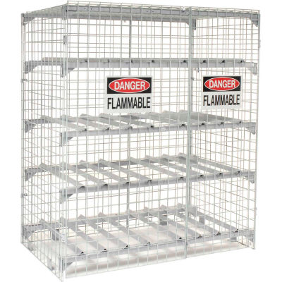 Global Industrial™ Horizontal 20 Cylinder Storage Cabinet, Manual Close
