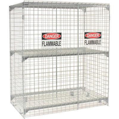 Global Industrial™ Vertical 30 Cylinder Storage Cabinet, Manual Close