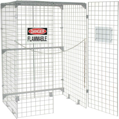 Global Industrial™ Vertical 20 Cylinder Storage Cabinet, Manual Close