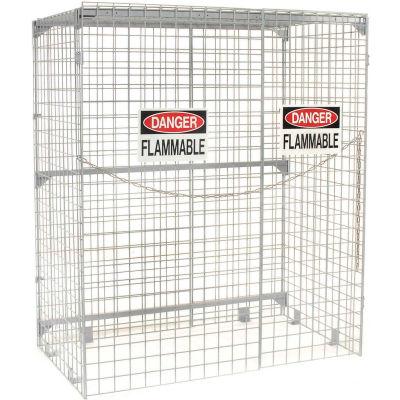 Global Industrial™ Vertical 24 Cylinder Storage Cabinet, Manual Close