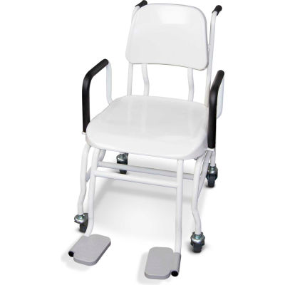 """Rice Lake 550-10-1BT Digital Chair Scale with 17""""W Seat & Bluetooth 2.0, 660 lb x 0.2 lb"""