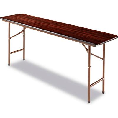 Alera® Laminate Folding Table, Rectangular, 72w x 18d x 29h, Walnut
