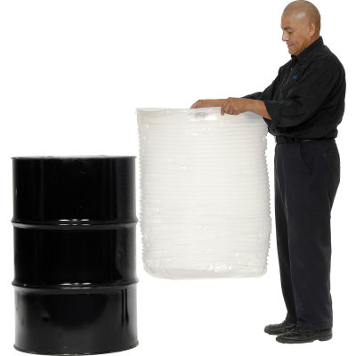 Global Industrial™ 55 Gallon Drum Insert Pleated 15 Mil - Pkg Qty 20