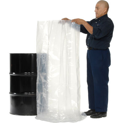 Global Industrial™ 55 Gallon Drum Liner 8 Mil 38 x 53 - Pkg Qty 50