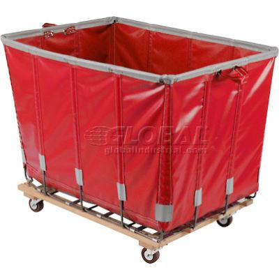 Dandux Vinyl Basket Bulk Truck 400720G12R-3S 12 Bushel - Red