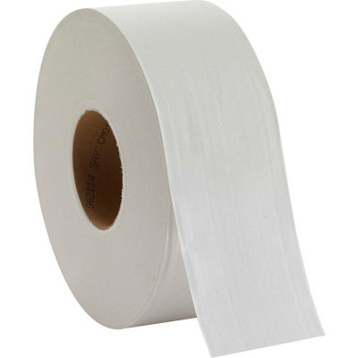 GP Envision White 2-Ply Jumbo Jr. EPA Compliant Bathroom Tissue, 1000'/Roll, 8 Rolls/Case - 12798