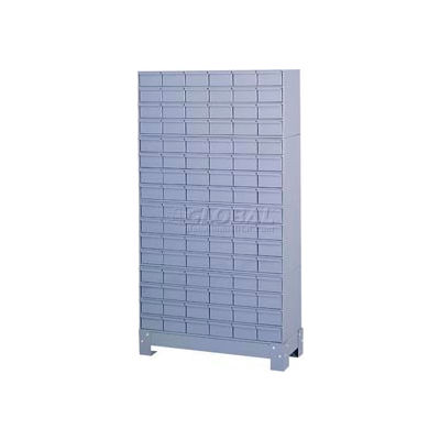 """Durham Steel Drawer Cabinet 022-95 - With 96 Drawers 34-1/8""""W x 12-1/4""""D x 62-1/2""""H"""