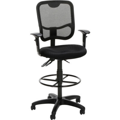 OFM Core Collection Comfort Series Ergonomic Task Chair with Drafting Kit, in Black (130-AA3-DK-A05)