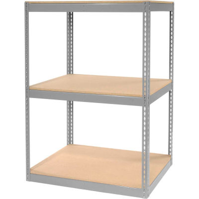"""Global Industrial™ Record Storage Rack Without Boxes 42""""W x 30""""D x 60""""H - Gray"""