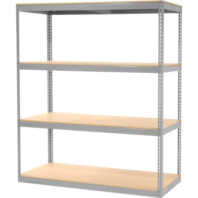 """Record Storage Rack Without Boxes 72""""W x 30""""D x 84""""H - Gray"""