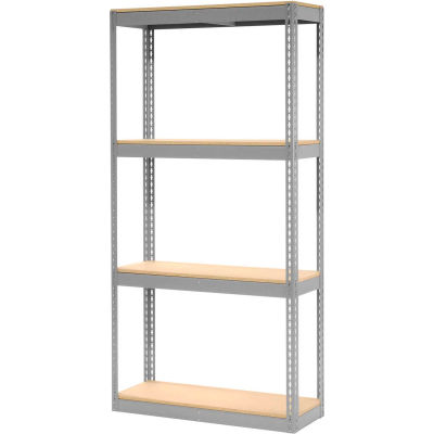 "Global Industrial™ Record Storage Rack Without Boxes 42""W x 15""D x 84""H - Gray"