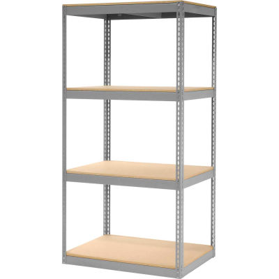 "Global Industrial™ Record Storage Rack Without Boxes 42""W x 30""D x 84""H - Gray"