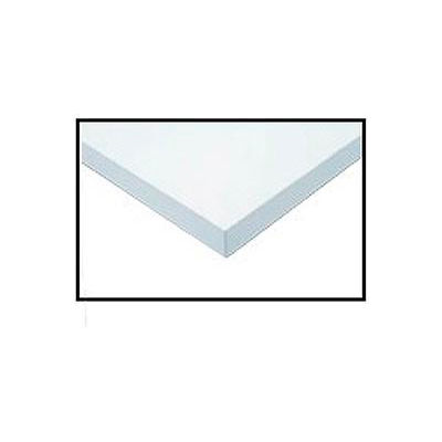 """96""""W x 30""""D x 1-1/4"""" Thick ESD Square Edge Workbench Top - White"""