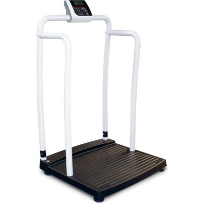 Rice Lake 250-10-2BLE Bariatric Handrail Scale with Bluetooth BLE 4.0, 1000 lb x 0.2 lb