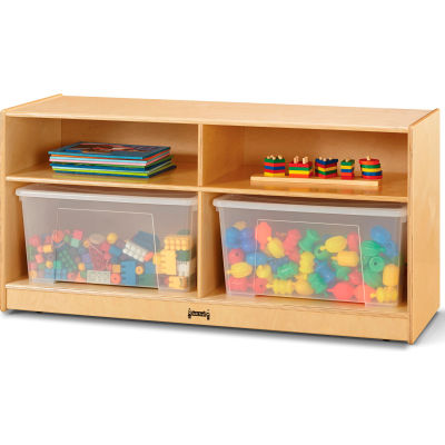 """Jonti-Craft® Toddler Jumbo Storage Unit with Clear Totes and Lids - 48""""W x 18""""D x 24.5""""H"""