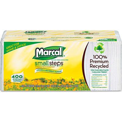 "Marcal® MRC6506PK, Lunch Napkins, 12-1/2""W x 11-1/4""D, White,  400/Pack"