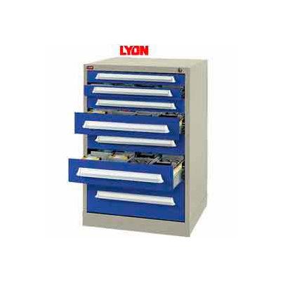 Lyon Modular Storage Drawer Cabinet PBS494530000B0 Counter Height, Putty/Blue