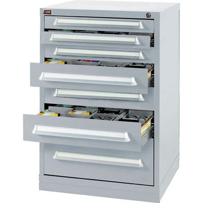 Lyon Modular Storage Drawer Cabinet DDS35303010030 Bench Height, Gray