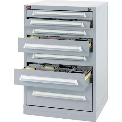 Lyon Modular Storage Drawer Cabinet DDS35303010010 Bench Height, Gray