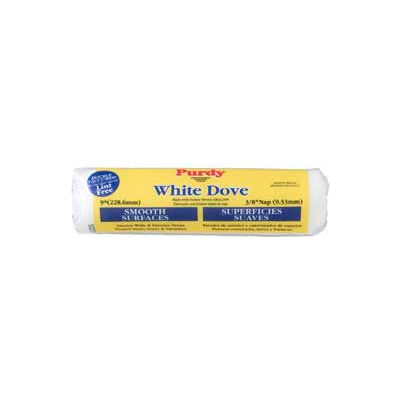 """White Dove Smooth 3/8"""" Nap Woven Covers  9"""", 15/Pack - 144670092 - Pkg Qty 15"""