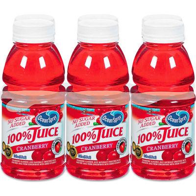 Ocean Spray 100% Juice, Cranberry, No Sugar Added, 10 Oz, 6/Pack