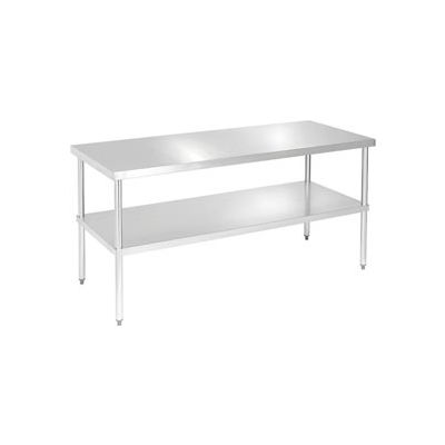 "Aero Manufacturing 4TG-3048 16 Gauge Workbench 430 Stainless Steel - Galv. Legs & Shelf 48""W x 30""D"