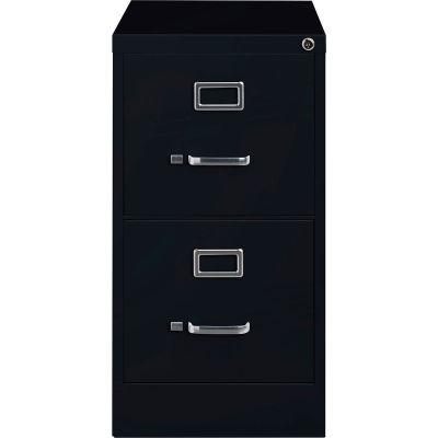 "Hirsh Industries® 25"" Deep Vertical File Cabinet 2-Drawer Letter Size - Black"